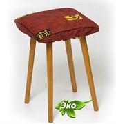 Подушка на стул с лузгой гречихи